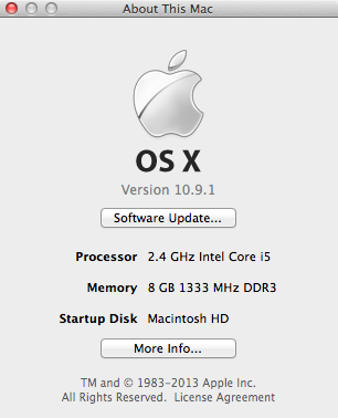 About this Mac after the Upgrade